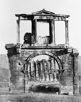 Arch of Hadrian & Road To Athens, Greece Photo Print