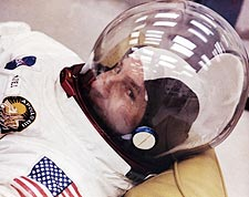 Astronaut Jim Lovell Suited Up Apollo 13 Photo Print for Sale