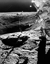 Astronaut John Young of Apollo 16 on Lunar Surface Photo Print for Sale