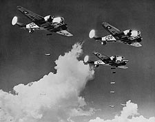 AT-11 Bombers Dropping Bombs 1943 Photo Print for Sale