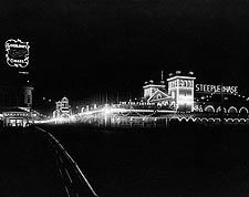 Atlantic City Beach Boardwalk At Night 1911 Photo Print for Sale