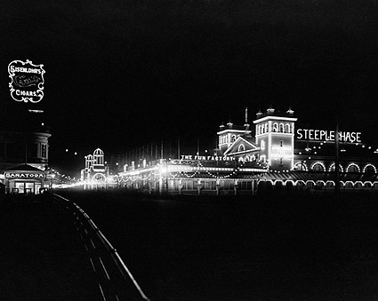 Atlantic City Beach Boardwalk At Night 1911 Photo Print