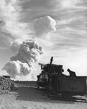 Atomic Annie Nuclear Bomb Artillery Testing Photo Print for Sale