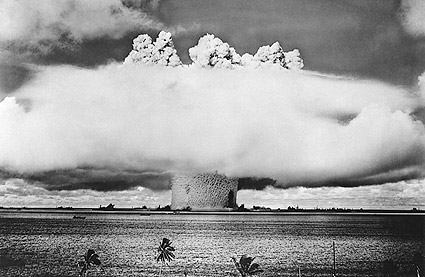Atomic Bomb Mushroom Cloud Over Pacific Photo Print