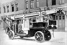 Auto Fire Truck Engines Germany Early 1900s Photo Print for Sale
