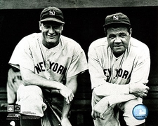 Babe Ruth and Lou Gehrig, New York Yankees Photo Print