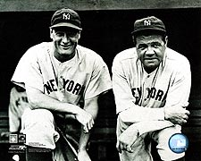 Babe Ruth and Lou Gehrig, New York Yankees Photo Print for Sale