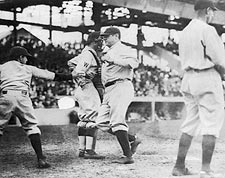 Babe Ruth New York Yankees Crossing Home Photo Print for Sale