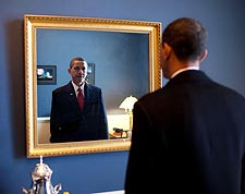 Barack Obama at Capitol Before Inauguration 2009 Photo Print for Sale