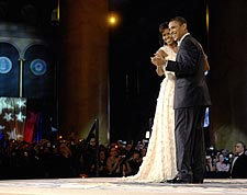 Barack Obama Dances with Wife Michelle at Inaugural Ball Photo Print for Sale