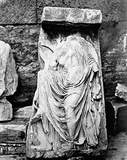 Bas-relief Ancient Greek Temple Athena Nike Photo Print for Sale