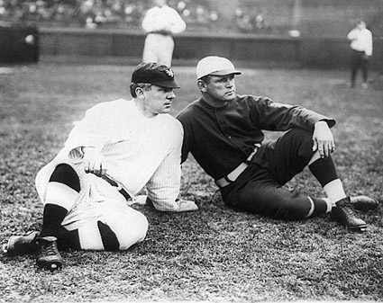 Baseball John J McGraw & Fred Tenney 1911 Photo Print