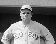 Baseball Player Babe Ruth Portrait Photo Print for Sale