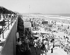 Tel Aviv Israel Bathing Beach 1940s Photo Print for Sale