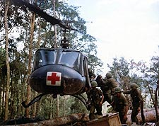 Bell UH-1 Huey Helicopter Medical Evacuation Vietnam Photo Print for Sale