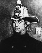 Benjamin Franklin Firefighter Drawing Photo Print for Sale
