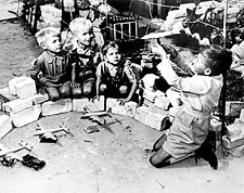 Berlin Airlift German Kids w/ Model Planes Photo Print for Sale