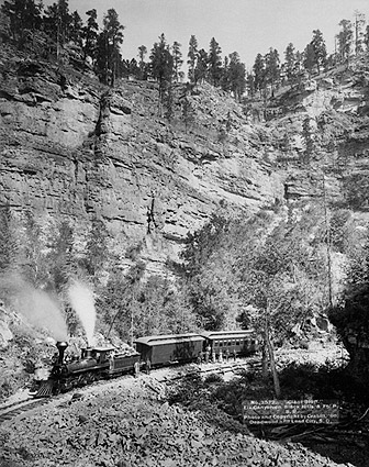 Black Hills Railroad Train Passengers 1890 Photo Print