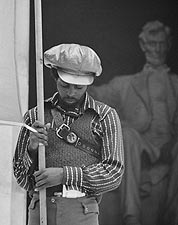Black Panther at Lincoln Memorial Leffler Photo Print for Sale