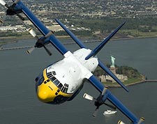Blue Angels C-130 Hercules 'Fat Albert' Statue of Liberty Photo Print for Sale