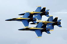 Blue Angels F/A Hornets Fly-By US Navy Photo Print for Sale