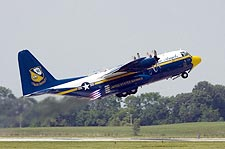 Blue Angels 'Fat Albert' C-130 Taking Off Photo Print for Sale