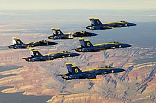Blue Angels Flying in Formation Over Grand Canyon Photo Print for Sale