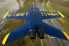 Blue Angels Jet Inverted Flight Photo Print for Sale