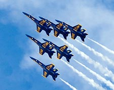 Blue Angels Jets Flying in Delta Formation Photo Print for Sale