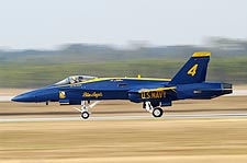 Blue Angels No. 4 Jet Landing Photo Print for Sale