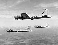 Boeing B-17 & B-29 in Flight WWII Photo Print for Sale
