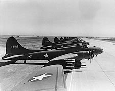 Boeing B-17 Flying Fortress Line-Up WWII Photo Print for Sale