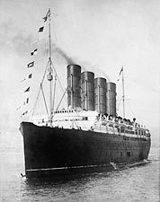 Bow and Portside Lusitania Cruise Ship 1908 Photo Print for Sale
