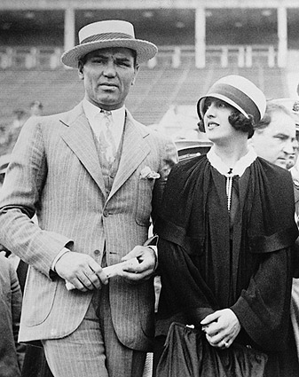 Boxer Jack Dempsey & Wife at Baseball Game Photo Print