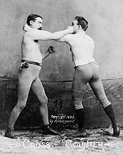 Boxers Demonstrate a Counter Punch 1890 Photo Print for Sale