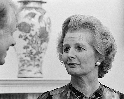 British Prime Minister Margaret Thatcher with Jimmy Carter Photo Print