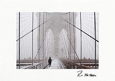 Brooklyn Bridge Blizzard Personalized New York City Christmas Cards