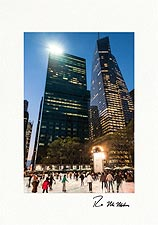 Bryant Park Ice Skating New York City Personalized Christmas Cards