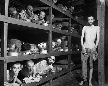 Buchenwald Concentration Camp Slave Laborers WWII Photo Print
