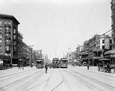 Streetcars on Canal Street New Orleans Louisiana 1907 Photo Print for Sale