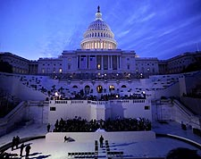 Capitol Building Before Obama Inauguration 2009 Photo Print for Sale