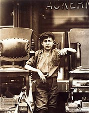 Shoe Shine Boy on Greenwich Avenue in New York City Photo Print for Sale