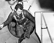 Chuck Yeager in B-29 Entering the Bell X-1 Photo Print for Sale