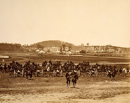 Civil War Canon Battery in Battle Formation Photo Print