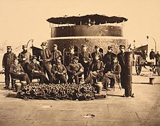 Civil War Officers on Deck of a Union Monitor Ship Photo Print for Sale