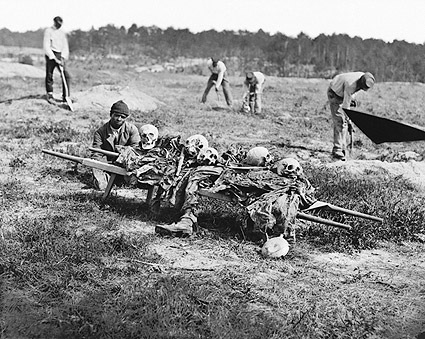 Civil War Soldier Remains Being Buried Photo Print