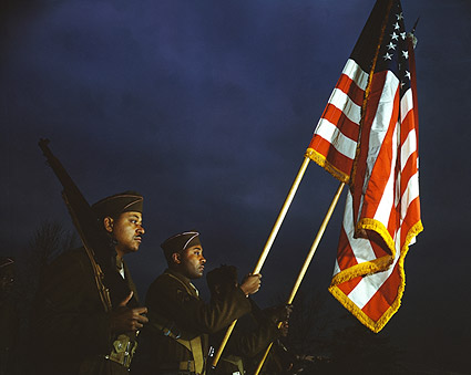 Color Guard of Black Army Engineers 1941 Photo Print