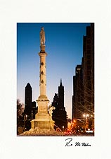 Columbus Circle Winter Dawn New York City Personalized Christmas Cards