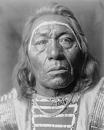 Crow Indian Leads the Wolf Edward S. Curtis Photo Print