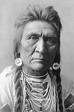 Crow Indian Man Wolf Edward S. Curtis 1908 Photo Print for Sale